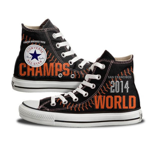 Custom San Francisco World Champs High Top Chucks