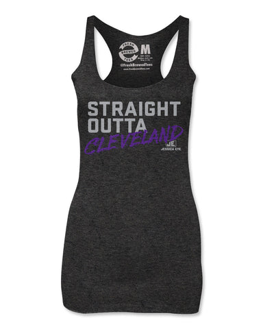 Jessica Eye Straight Outta Cleveland Ladies Tank