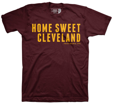 Home Sweet Cleveland Maroon T-shirt