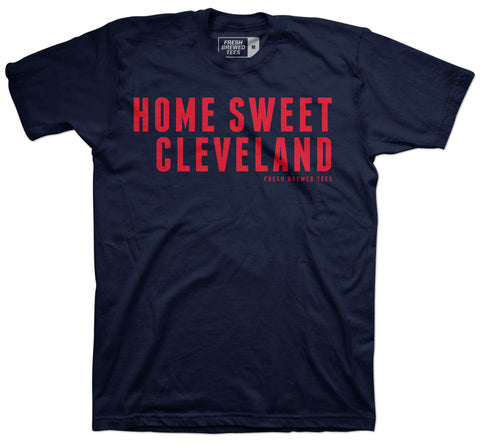 Home Sweet Cleveland Navy T-shirt