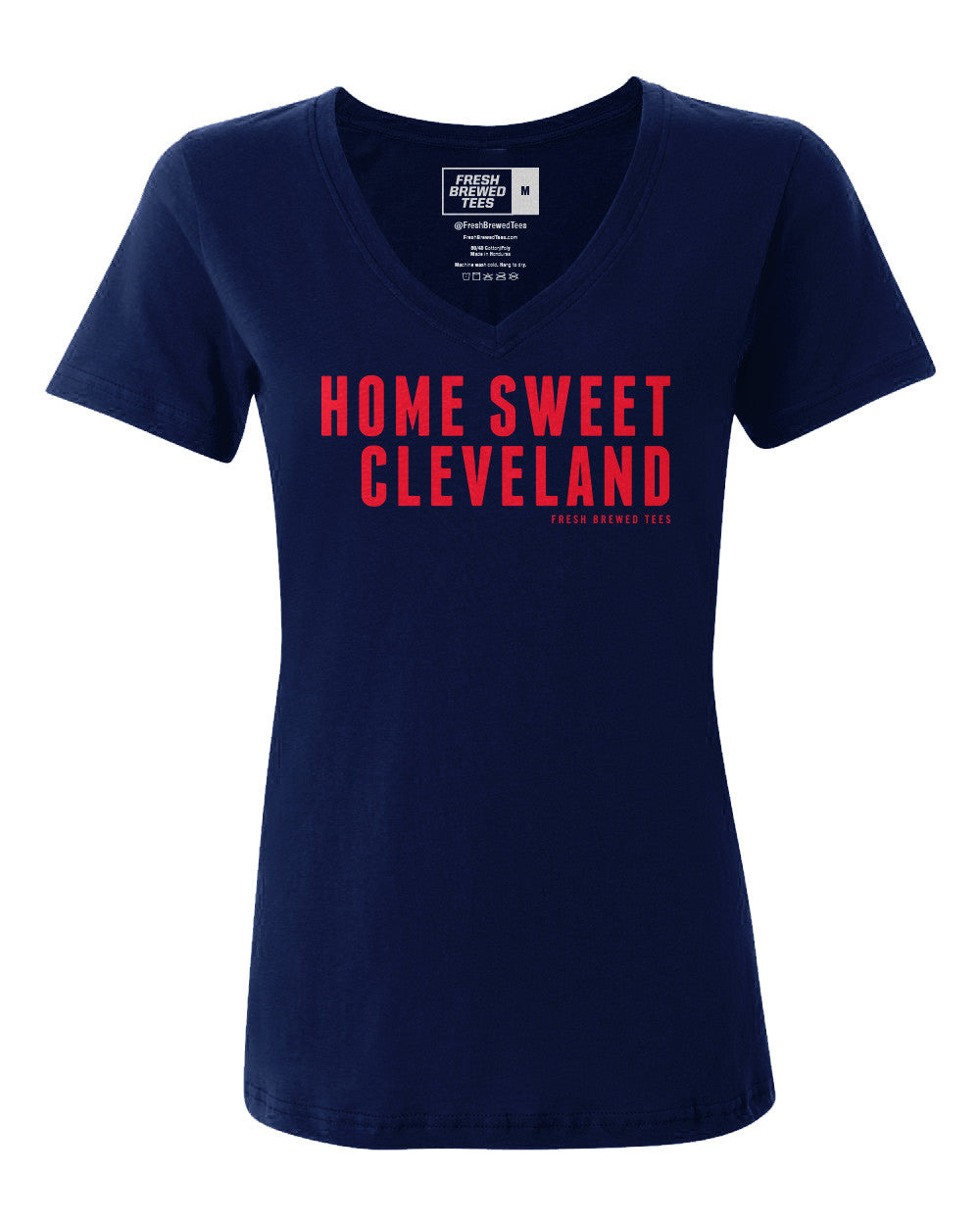 Home Sweet Cleveland Navy Ladies V-Neck