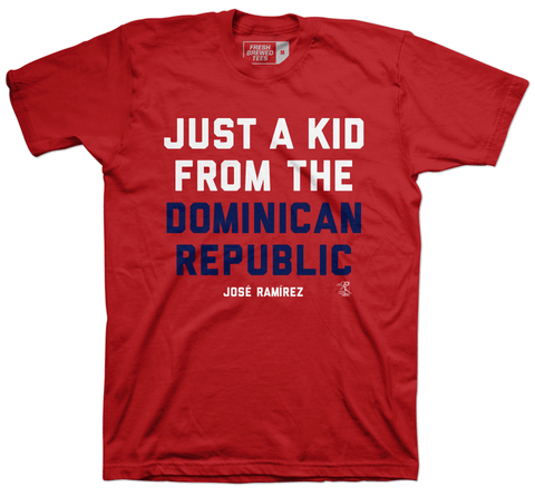 Jose Ramirez Just a Kid from the Dominican Republic T-shirt