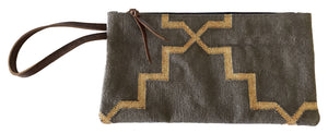 Smoky | Gold Clutch with Wristlet