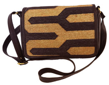 Load image into Gallery viewer, Chocolate | Gold Zebra Crossbody