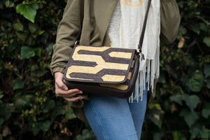 Chocolate | Gold Zebra Crossbody