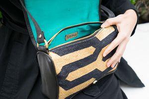 Black | Gold Zebra Crossbody
