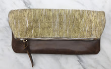 Load image into Gallery viewer, Golden Zari Foldover Clutch