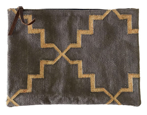 Smoky | Gold Oversize Clutch