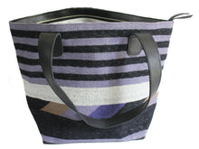 Load image into Gallery viewer, Periwinkle Leather Bottom Medium Tote