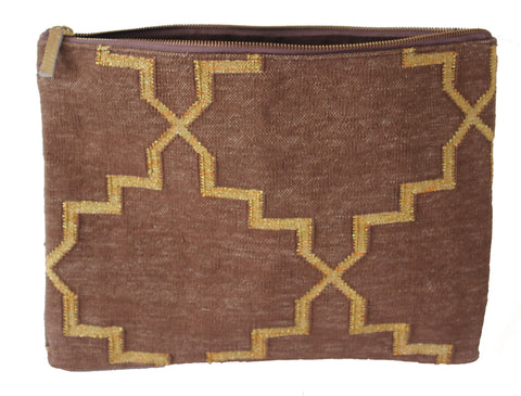 Cedarwood | Gold Oversize Clutch