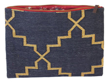 Load image into Gallery viewer, Denim | Gold Oversize Clutch