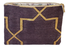 Load image into Gallery viewer, Plum | Gold Oversize Clutch