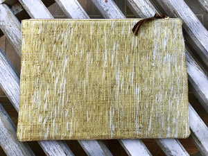 Golden Zari Oversize Clutch