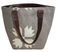 Load image into Gallery viewer, Snowflake Leather Bottom Medium Tote