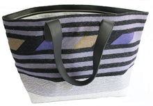 Load image into Gallery viewer, Periwinkle Leather Bottom Weekender Tote