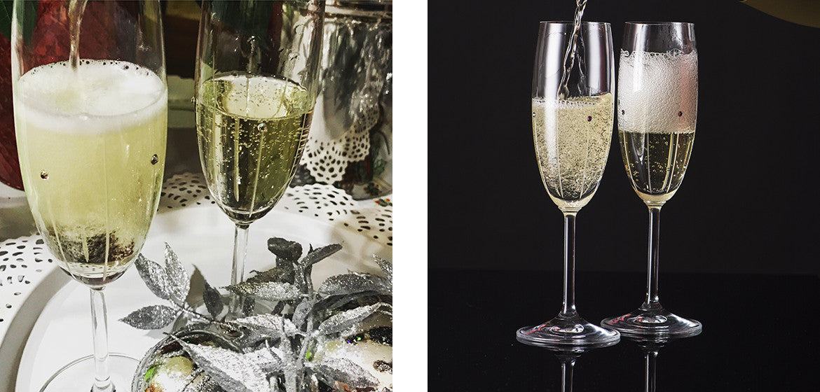 Champagne-glasses-falling-rain-colletion-with-crystals