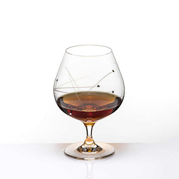 The Abstract Brandy Glass