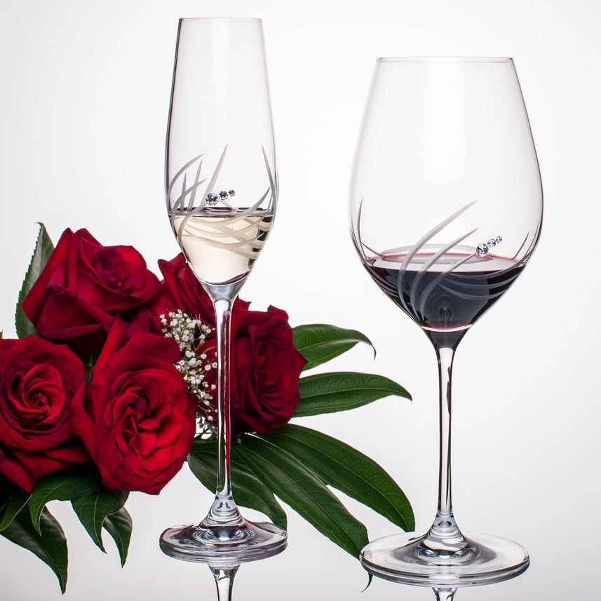 Breeze Bordeaux Red Wine Glasses - Set of 2 in gift box
