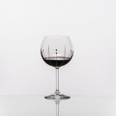 The Falling Rain Burgundy Wine Glass