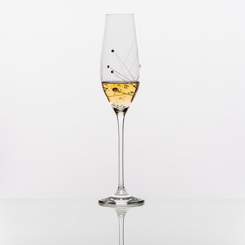 The Abstract Sparkling Wine Glass