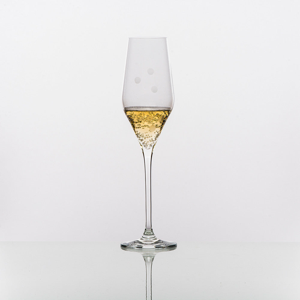 Drops of Joy Champagne Glass