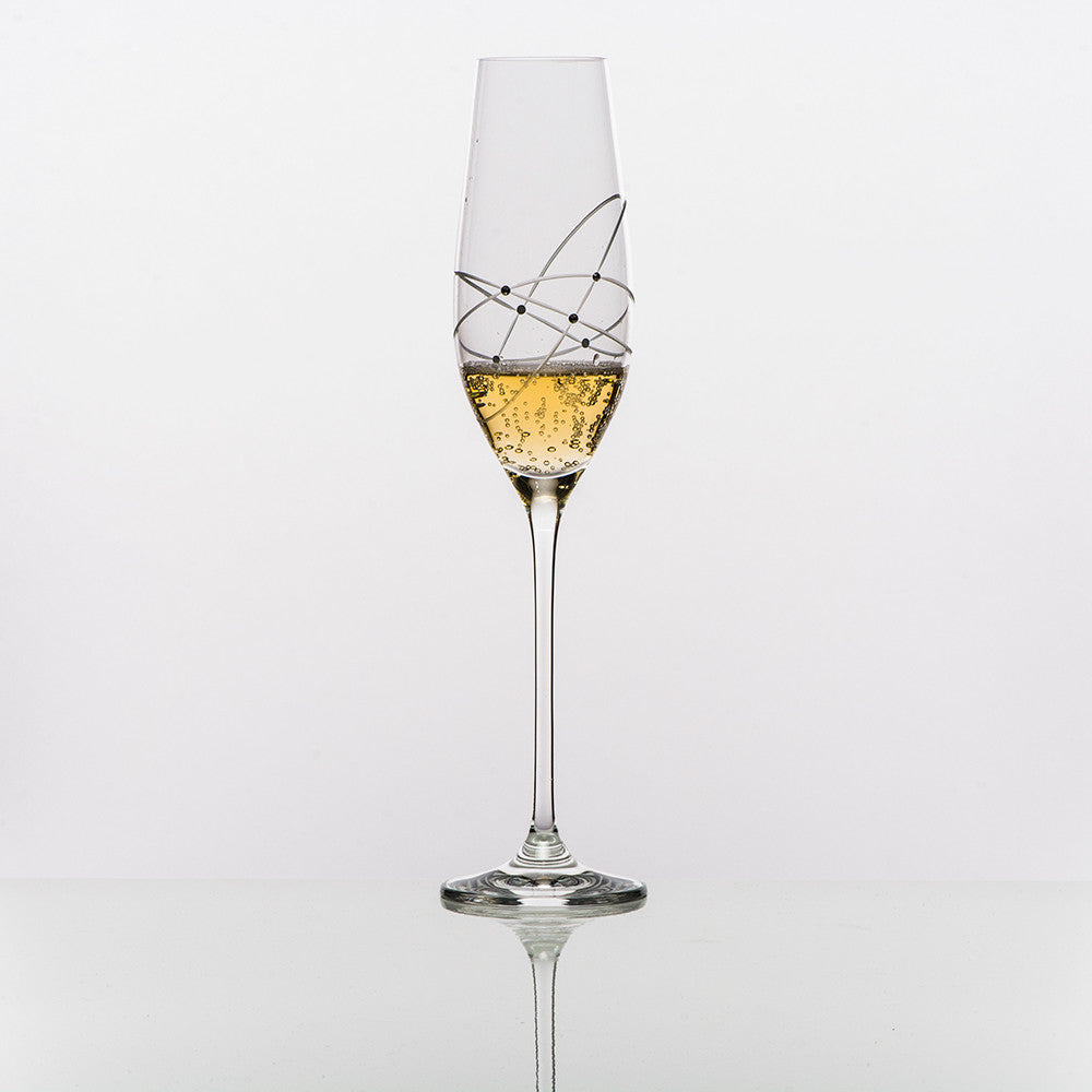 Galaxy Spirals Champagne Glass