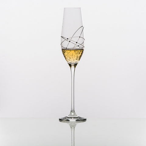 The Galaxy Spirals Sparkling Wine Glass
