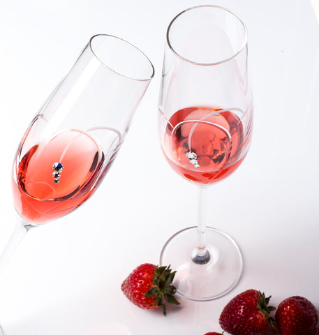 Hearts Champagne Glasses - Set of 2pc in gift box