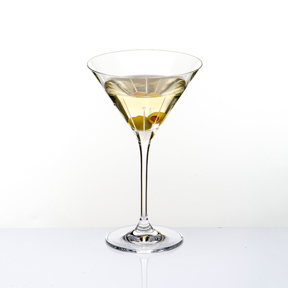 Falling Rain Martini Glass