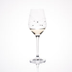 Galaxy Spirals White Wine Glasses - Set of 2pc in a gift box