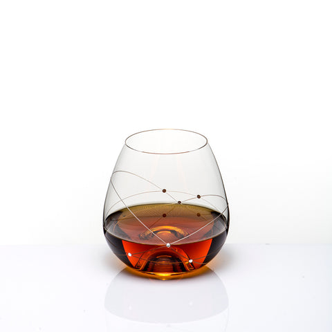 The Galaxy Spirals Whisky Glass