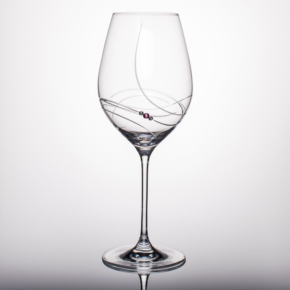 Pink Ribbon White Wine Glasses - Set of 2