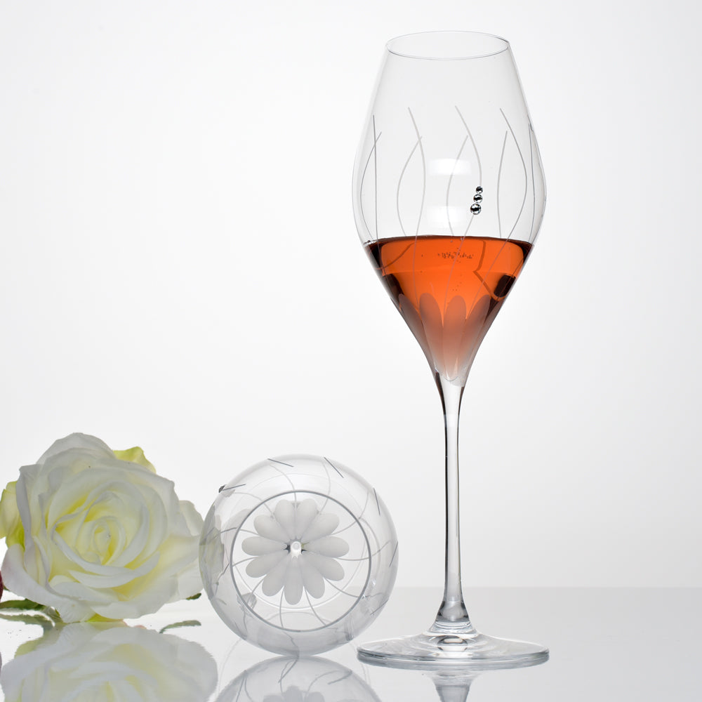 Lotus Rosé / Champagne Glass - set of 2pc in a gift box