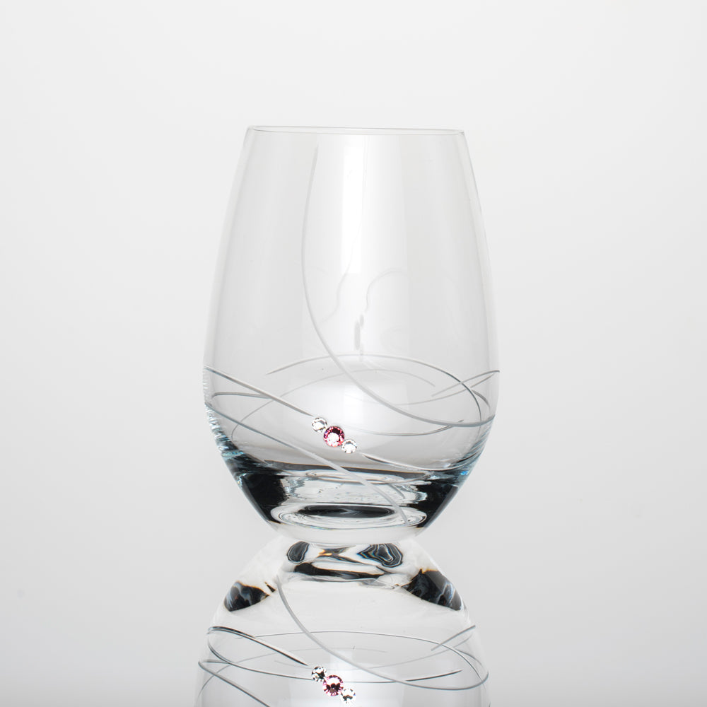 Pink-Riboon-wine-semless-glass-with-swarovski-crystals-handcrafted