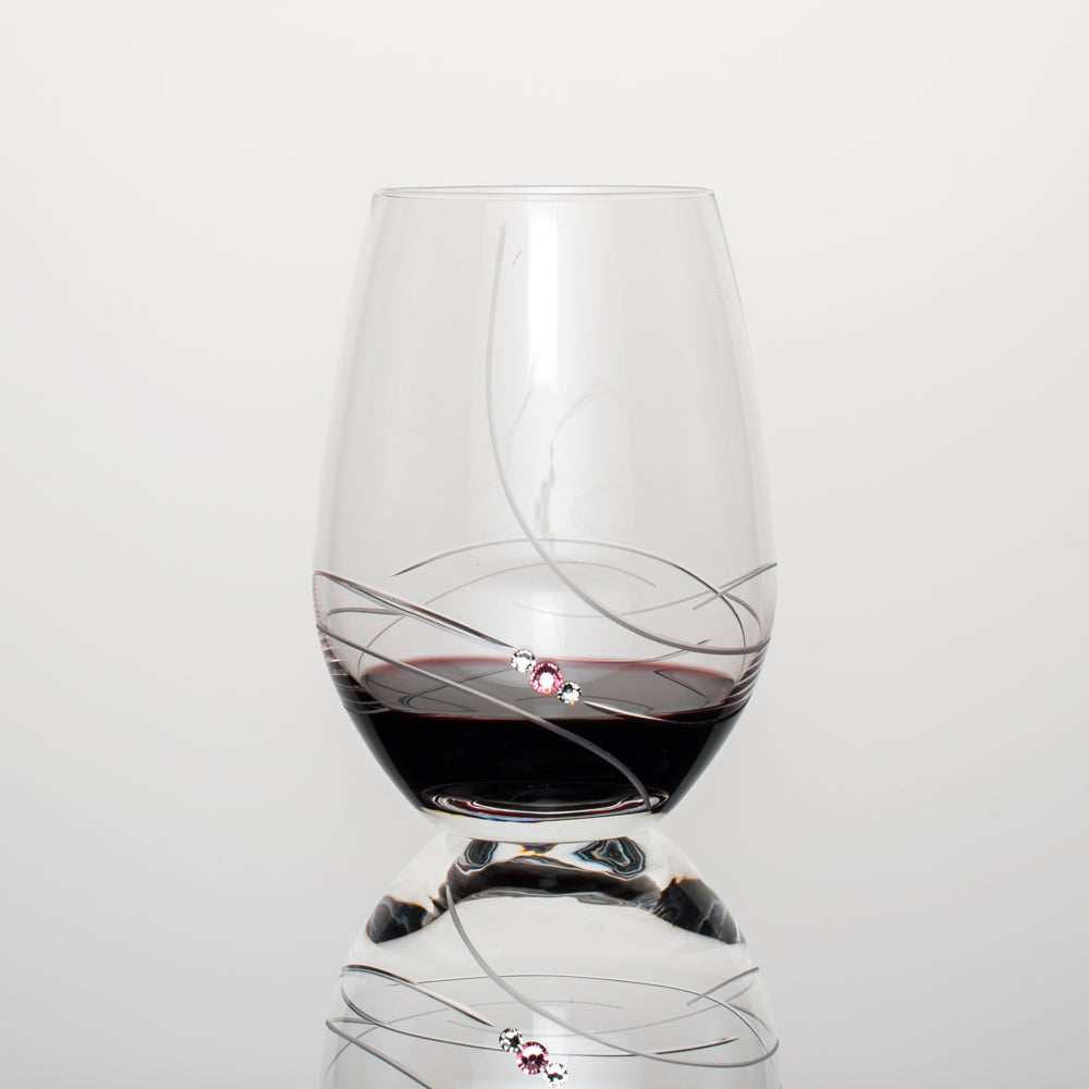 Pink-ribbon-wine-stemless-glsss-handcrafted-with-Swarovski-crystals