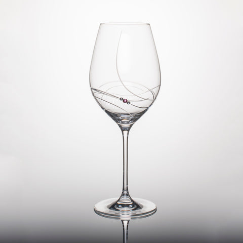 Pink Ribbon Red Wine Glasses - Set of 2