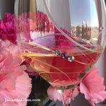 Pink Ribbon Bordeaux Red Wine Glasses - Set of 2 in gift box