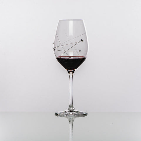 Abstract Bordeaux Red Wine Glasses - Set of 2 in gift box