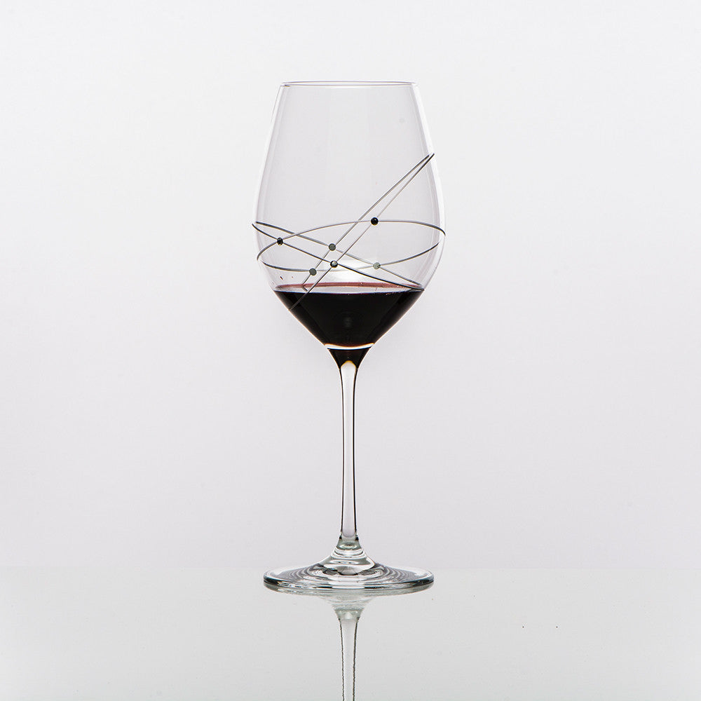 The Galaxy Spirals Red Bordeaux Wine Glass
