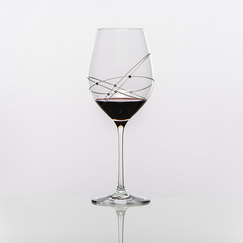 The Galaxy Spirals Red Wine Glasses