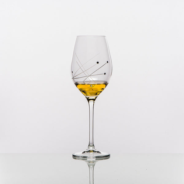 The Abstract White Wine Glass