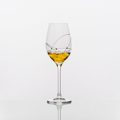 The Galaxy Spirals White Wine Glass