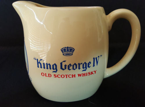 Yellow King George IV Old Scotch Whiskey Jug - Wade Regicor London