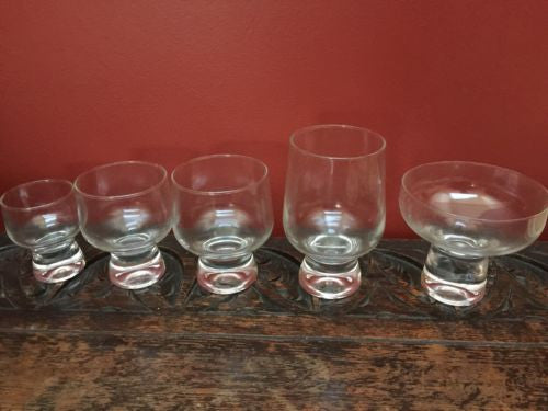 Vintage Regal Set 5 Types Of 6 Glasses