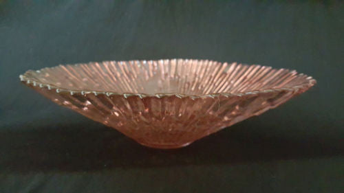 Glass decorative bowl, serving plate, orange in colour