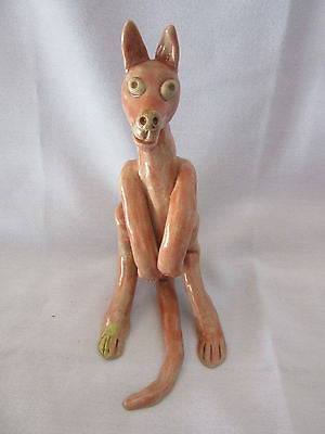 Vintage Kangaroo Sculpture Art Figurine Decorative Art Australian Animal Collect