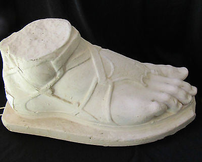 Antique 1900s Victorian Plaster Model of the Foot of Hermes Sculpture Signed Of