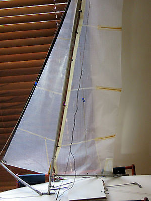 Model Boat - Wooden Sailboat - Miniature Ship – Motor Yacht - With Stand