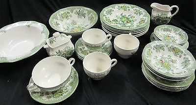 Porcelain Dinnerware Set - China Dishes Set - Enoch Wedgwood Tunstall Ltd -30 Pc