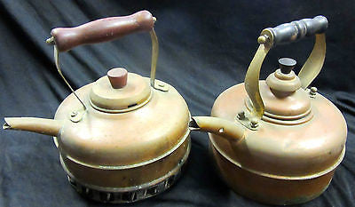ANTIQUE - 1985 L&W SOLID COPPER 1.5 LTR TEAPOT - 2 AVAILABLE